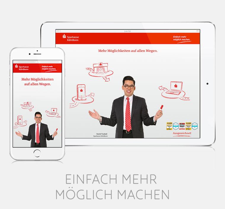 """Sparkasse KölnBonn: Online-Kampagne """"Einfach mehr möglich machen"""""""