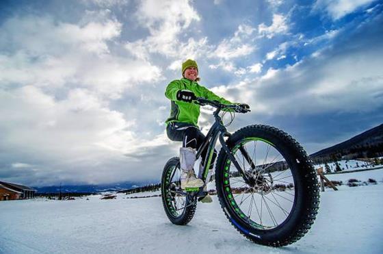 Fat biking in Winter Park