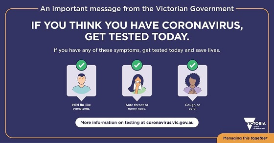 If you think you have coronavirus, get tested today