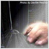 hacker typing on keyboard