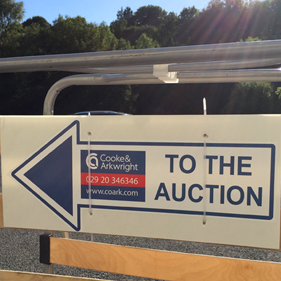 Auction sign, Cooke & Arkwright