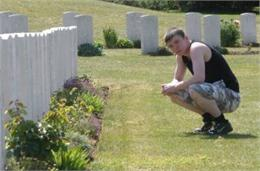 Springwell Dene Pupil pays his respects
