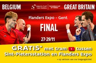 Finale Davis Cup in Flanders Expo