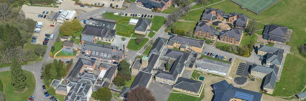 Aerial photo of Mary Hare School