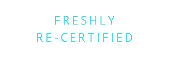 Freshly Re-certified