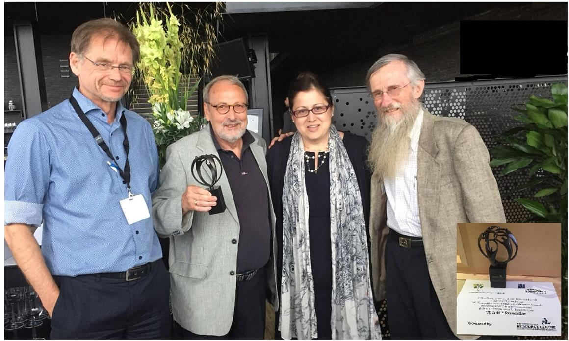Prof. Rob van Tulder, Prof. Pieter Glasbergen, Dr. May Seitanidi, and Prof. James Austin (earlier award winner).