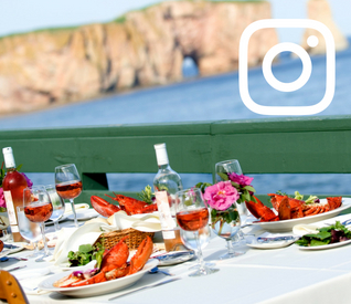 Lobster and Percé Rock