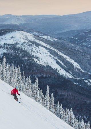 Ski dans le parc national de la Gaspésie