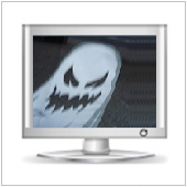 ghost appears in monitor
