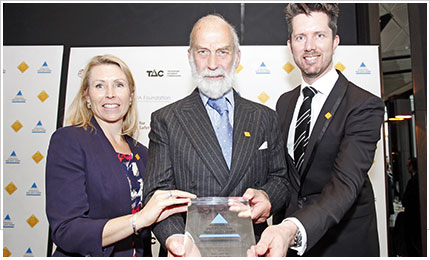 Prince Michael International Road Safety Award for Stars on Cars Program.