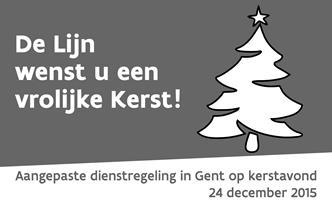 De Lijn wenst u een vrolijke kerst!