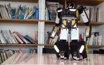 3D printed transformer robot pictured