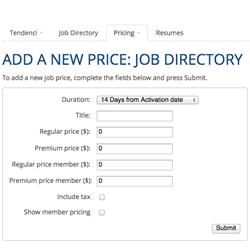 Add a Job Pricing Screenshot