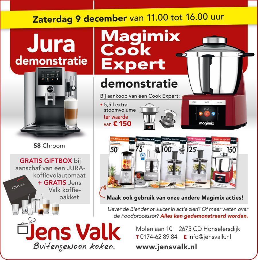 Jura Magiix Cook expert demonstratie Jens Valk Buitengewoon koken.