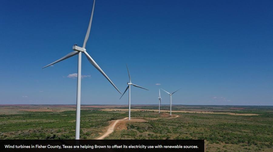 Brown's wind turbine in Texas