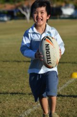 Rugby skills on show
