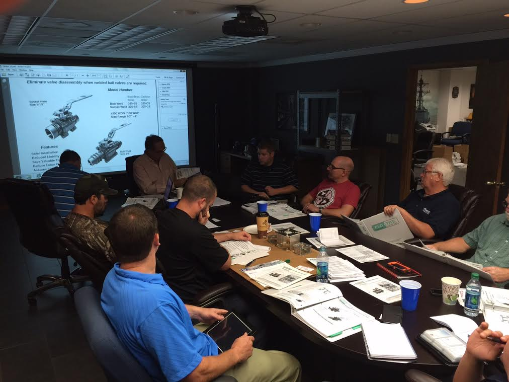 Flo-Tite valve training at Flotech in Jacksonville, FL