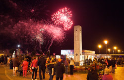 Fireworks action on Great Yarmouth seafront