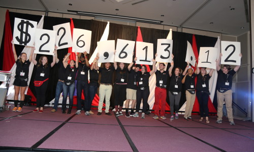 image from last year's RaiseRED with the total donations of $226,613.12.