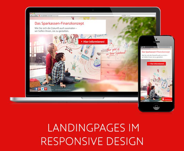Ostdeutscher Sparkassenverband: Landingpages im Responsive Design