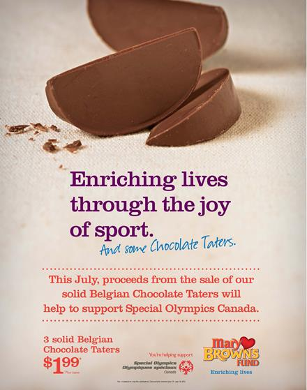 Mary Brown's Special Olympics campaign poster