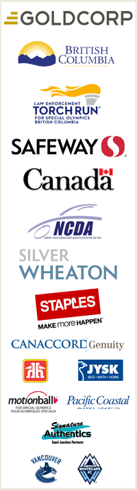 Special Olympics BC provincial sponsors