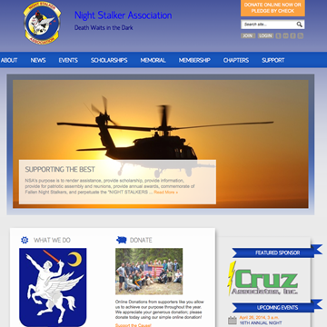 Night Stalker Association Homepage Screenshot
