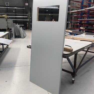 Customised colorbond door