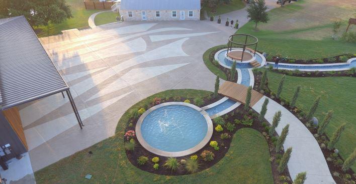 SUNDEK pool deck with Classic Texture overlay