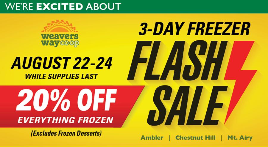 Freezer Flash Sale Aug. 22-24