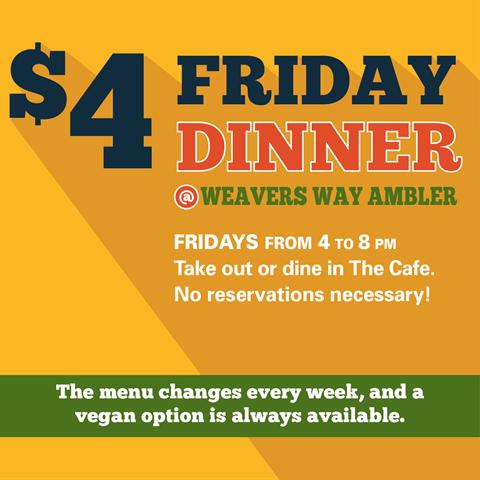 $4 Friday Dinner
