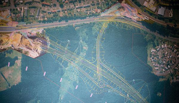 Aerial design map
