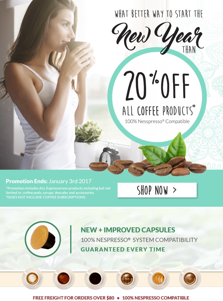 20% OFF all Coffee Products!