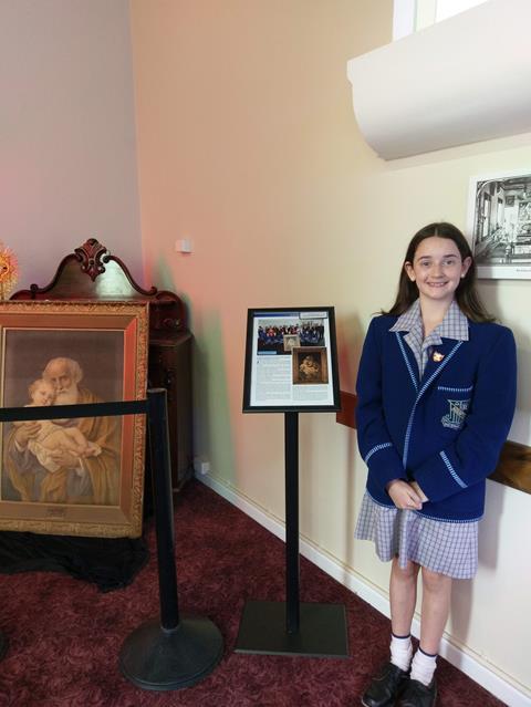 Olivia in museum Display