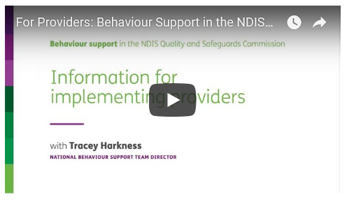For Providers: Behaviour Support in the NDIS Commission