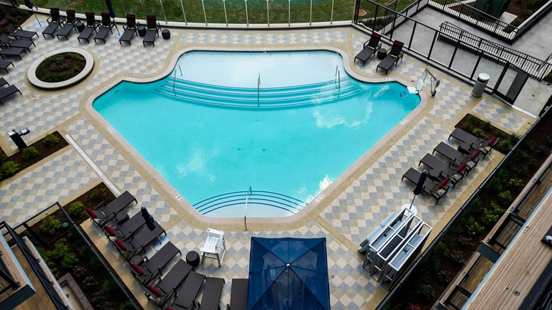 Pool deck at The Emerson in Centreville, VA