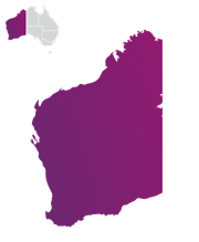 Image of the Western Australia Map