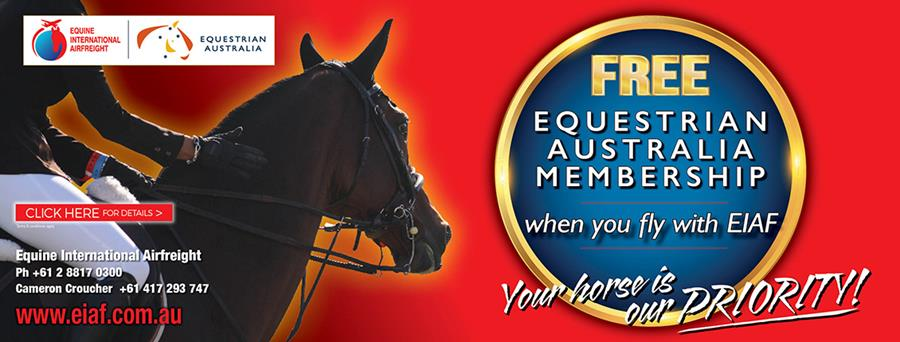 FREE Equestrian Australia membership when you fly with EIAF