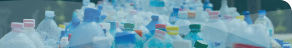 Plastic bottles ready for recycling
