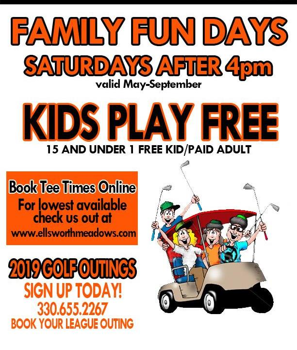 Family Fun Days | Saturdays After 4pm May-September Kids Play Free (15 & Under - 1 Child/Paid Adult) | Book Online For Lowest Available Pricing