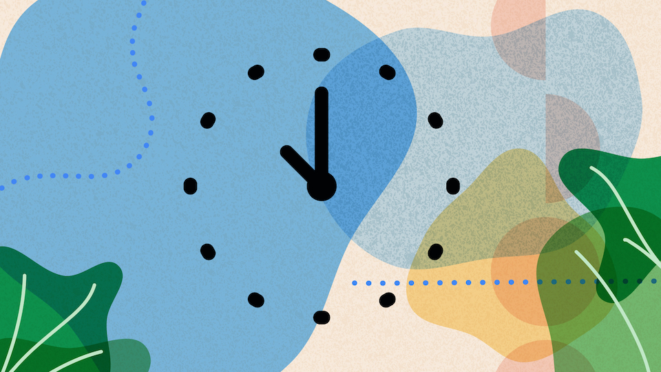 Abstract illustration of a clock.