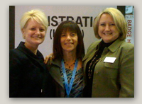 Photo: (Left to right) Nicole Buraglio, Denise Paccione, and Pamela Miller at Hanley Wood Exhibitions' successful SURFACES 2010.