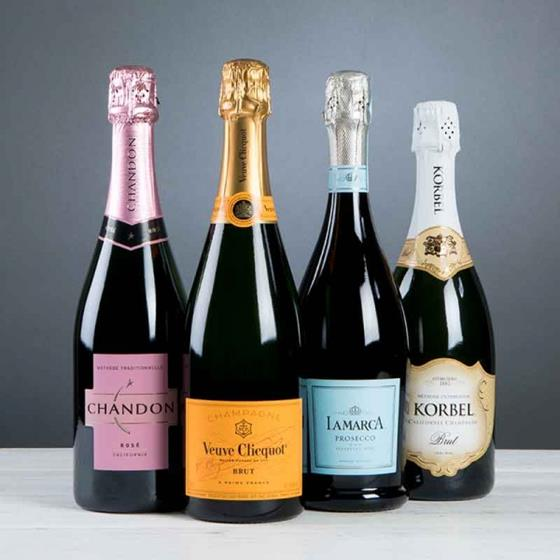 Chandon, Veuve Clicquot, Lamarca and Korbel sparkling wines