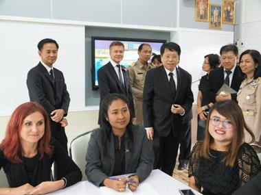 Trainers and ministry officials at the launch of a new Regional English Training Centre in Thailand