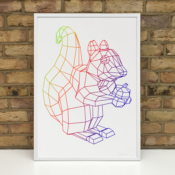 Stereohype Squirrel Fine Art Prints