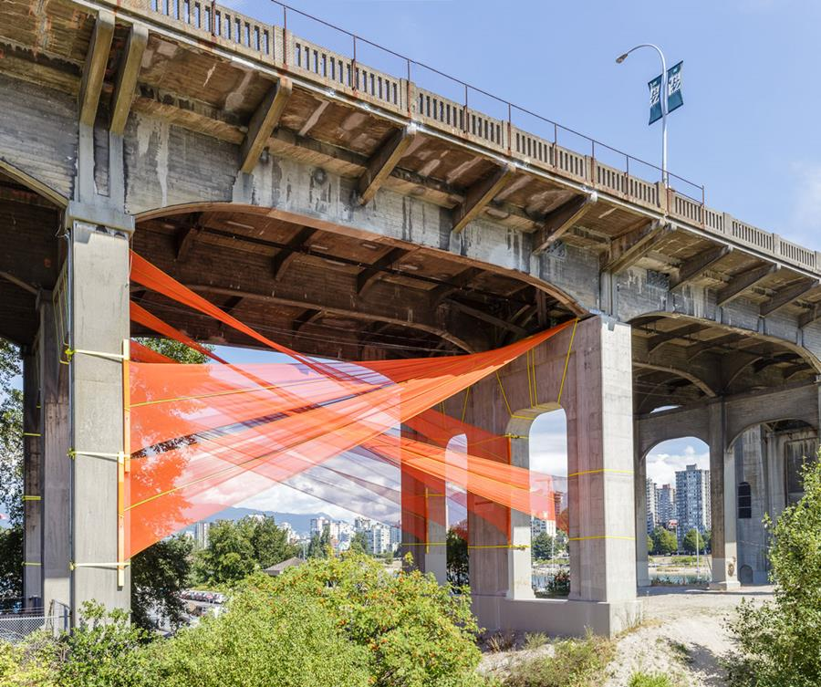 Photo of City Fabric installation.