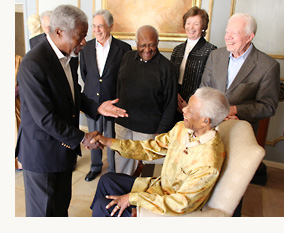 Nelson Mandela with the Elders, May 2010