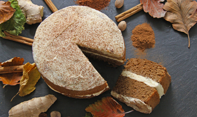 Spiced Pumpkin Sponge cake - delly ally