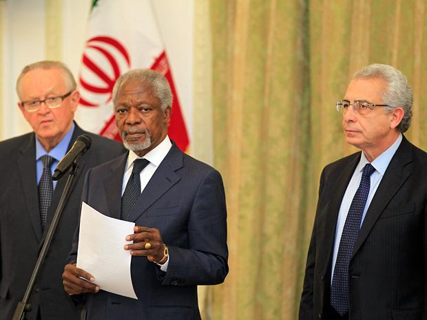 Martti Ahtisaari, Kofi Annan and Ernesto Zedillo in Iran