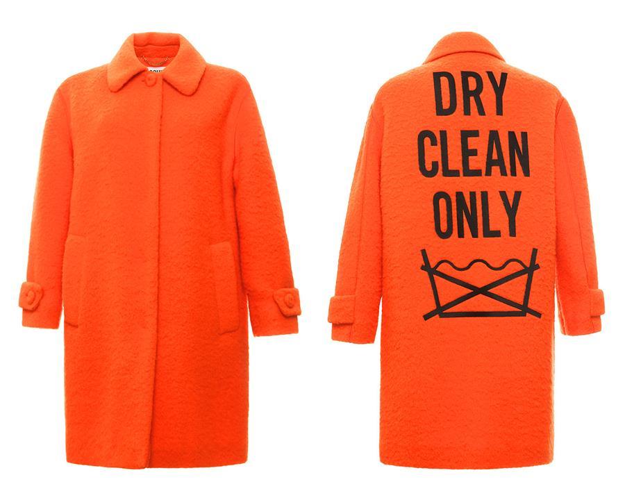Photo of an orange coat.